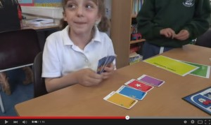 Poppy shows best way to learn a language at school
