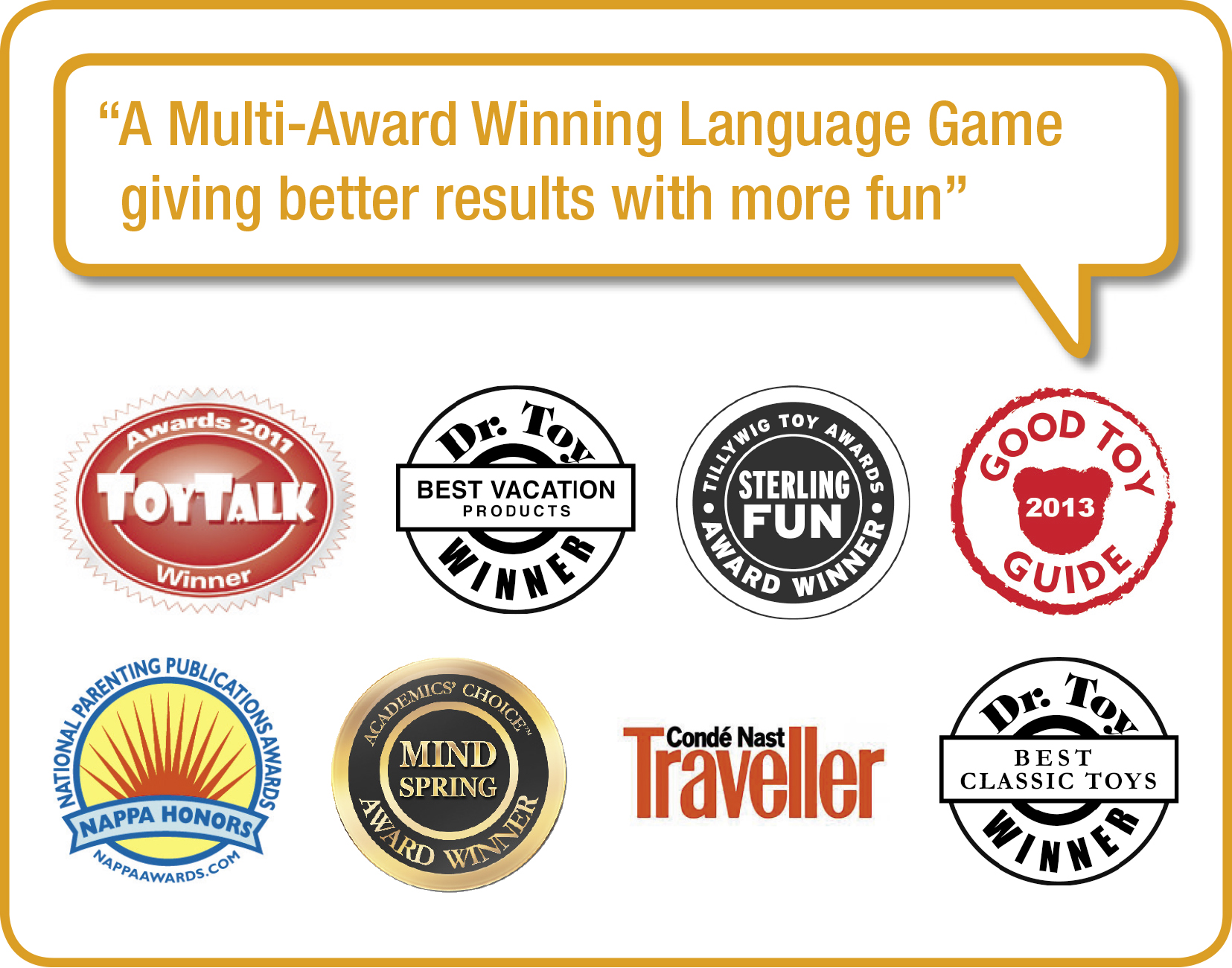 multi-award winning language games in French Spanish Italian and English TEFL