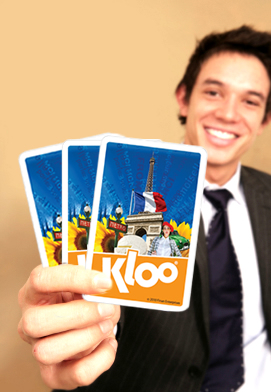 Teach me Spanish French or Italian with KLOO language games