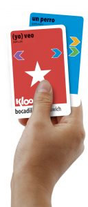 Learni how to speak Spanish with KLOO cards