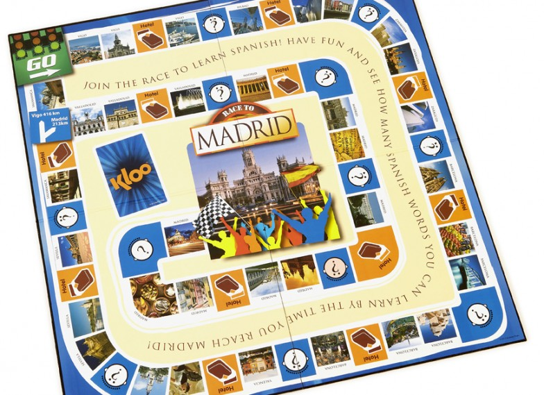 Race to Madrid game board