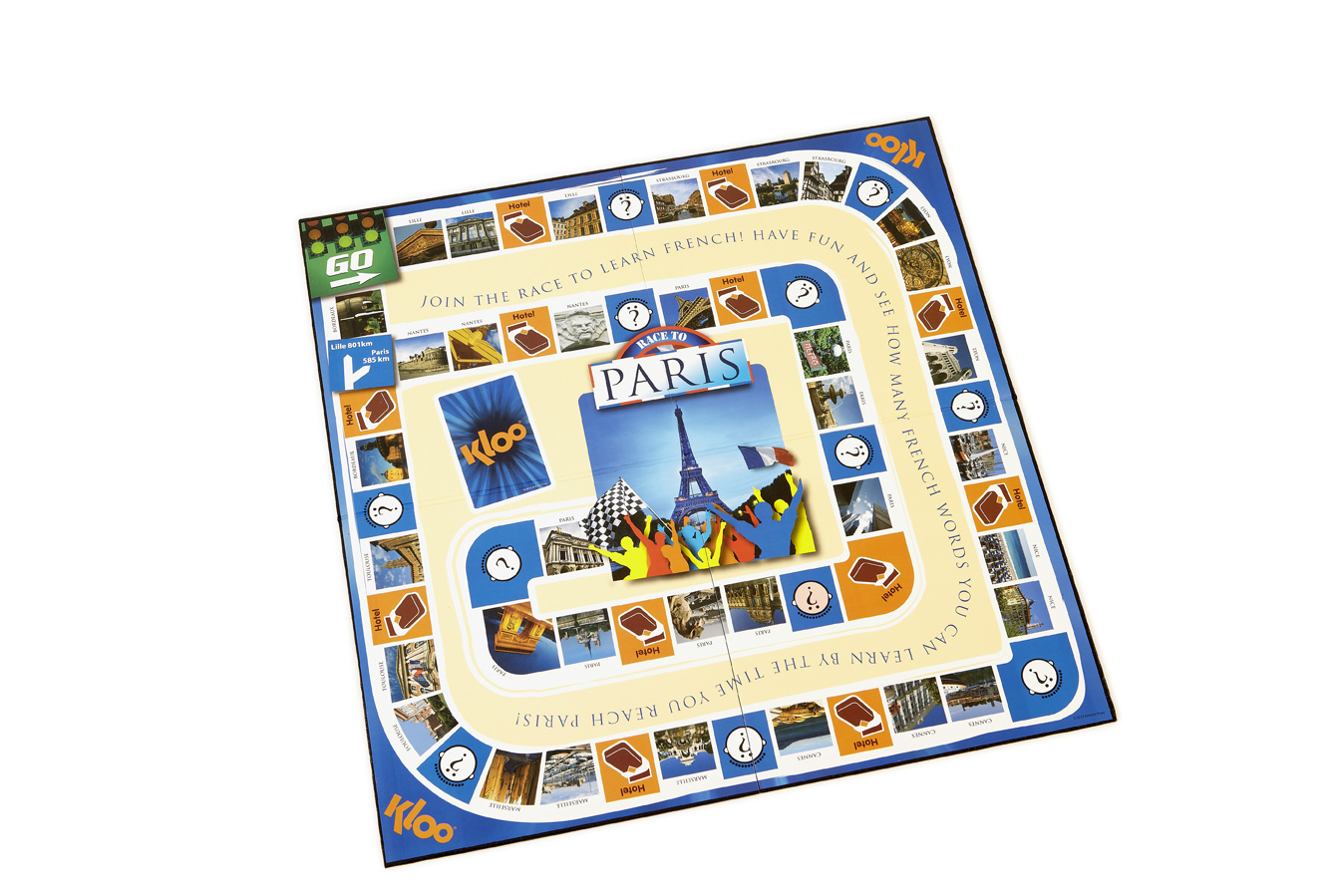 Andrew's family played Race to Paris in Paris
