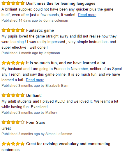 Review Learn French Games KLOO